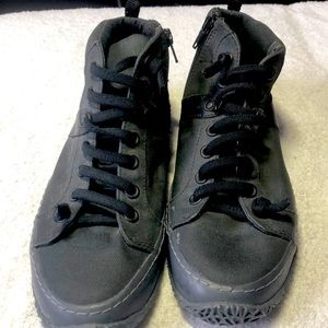 Boys Camper High Tops with zipper on side